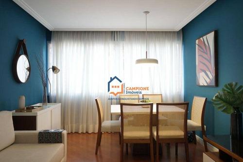 Apartamento Com 3 Dormitórios À Venda, 90 M² Por R$ 530.000,00 - Santa Teresinha - São Paulo/sp - Ap2085