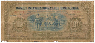 Billete Antiguo De Costa Rica Los Lecheros 3 Dic 1935 Jmg