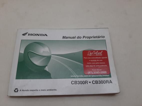 Manual Do Proprietario Honda Cb300r Ra Usado
