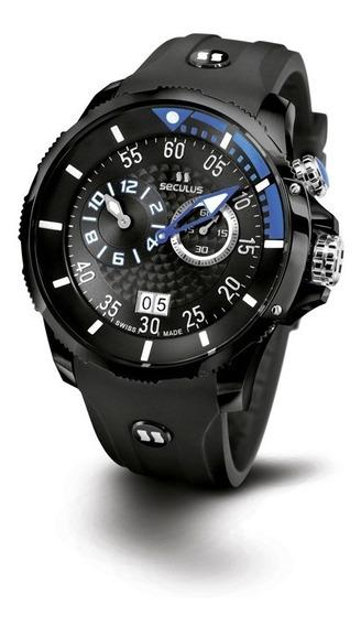 Relógio Seculus Sports Phantomas Swiss 4505422silbba