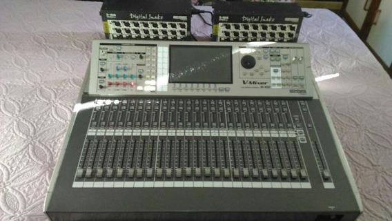 Mesa De Som Digital Roland M400 Até 48 Canais
