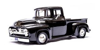 Pickup Ford Antiga F100 1955 1/24 Camionete Ferro Preta