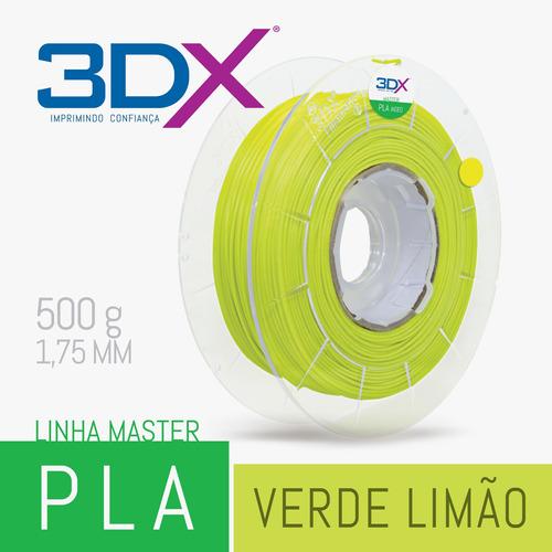 Filamento Pla Ht 500g 1,75 Verde Limão (amarelado)