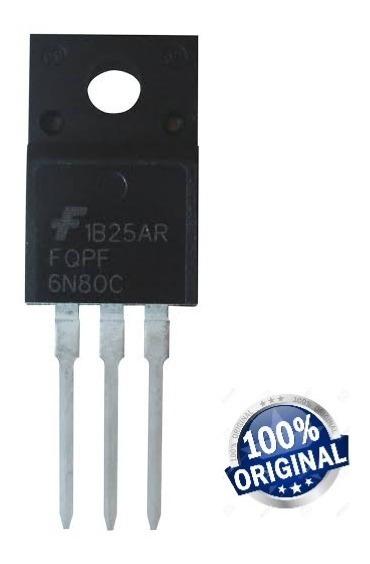 Transistor Fqpf 6n80c Novo Mosfet 800v