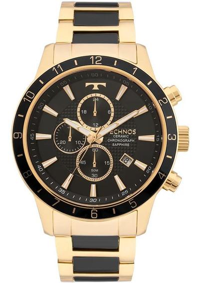 Relógio Technos Masculino Cerâmica Js15fi/4p Original Nfe