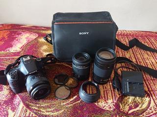 Cámara Sony Alpha A58 Con 2 Objetivos Y Filtros.
