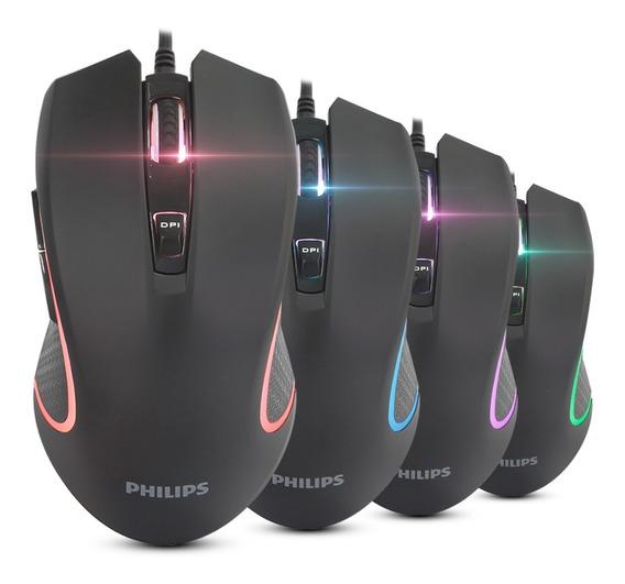 Mouse Gamer Philips G413 Fio Pc Usb 6400 Dpi 1000hz 6 Botões