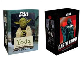 Figura Yoda + Darth Vader Star Wars + Livreto Em Inglês Box