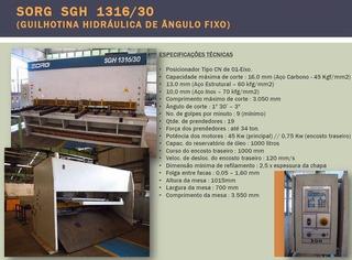 Guilhotina Hidraulica Cn Sorg Sgh 1316/30 - 3000 X 16 Mm