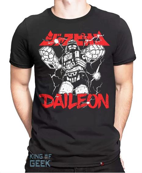 Camiseta Daileon Jaspion Camisa Gigante Guerreiro Clássicos