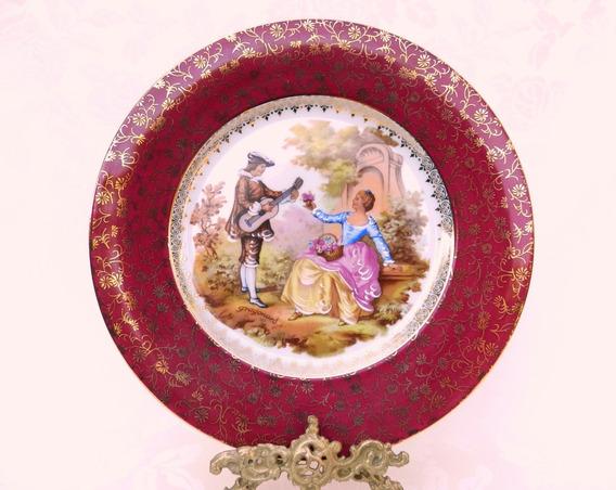 Plato Decorativo En Porcelana Meissner De Limoges