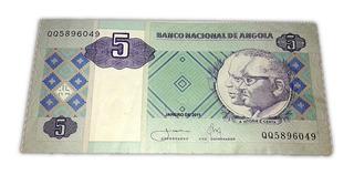 Nota Cédula 5 Cinco Kwanzas - Moeda Dinheiro Angola 2011