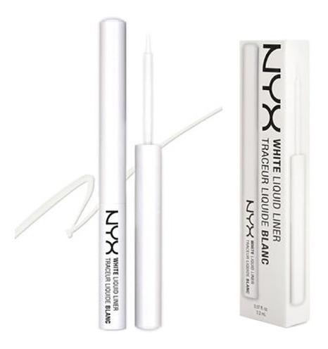 Delineador Nyx Líquido White Liquid Liner - Branco Opaco