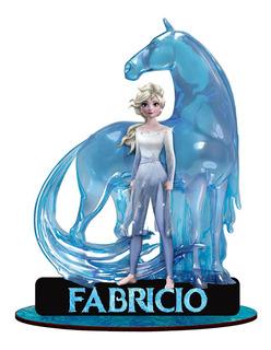 10 Display De Mesa Frozen 2 Elsa Cavalo De Gelo Com Nome Mdf