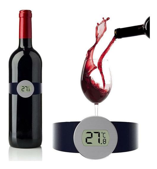 Termometro Digital Vino Brazalete Botella Sommelier C / Pila