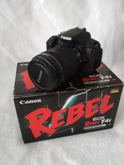 Camera Canon T4i + Lente 18-135mm Stm + 3 Baterias