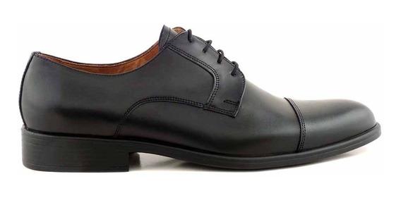 Zapato Briganti Cuero Vestir Hombre Goma Liso - Hcac00915