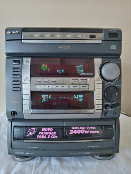 Micro System Aiwa F9 (com Stk Original)