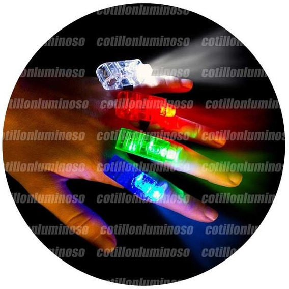 50 Anillos Laser Led Luminoso Para Dedos Cotillon Luminoso
