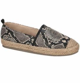 Zapato Mujer Textura Reptil Antiderrapante Alpargata 825400
