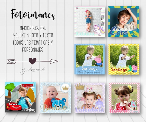 20 Fotoimanes Souvenirs Personalizados *fotoiman* M