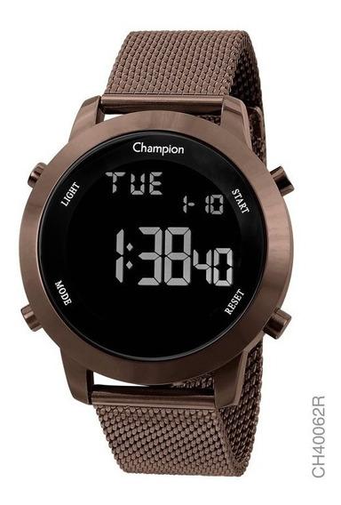 Relógio Feminino Chocolate Champion Digital Lançamento Prova D