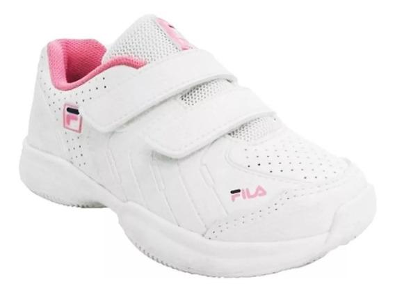 Fila Zapatillas Nene Lugano Baby 5.0 Vlc Blanco - Rosa