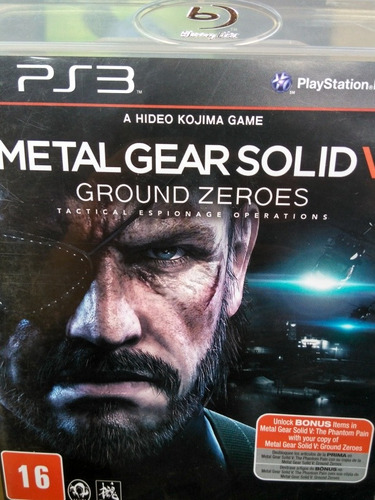 Metal Gear Solid V Ground Zeroes Ps3 Original