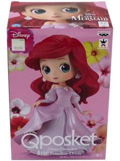 Banpresto Qposket Disney La Sirenita Ariel Vestido Rosa