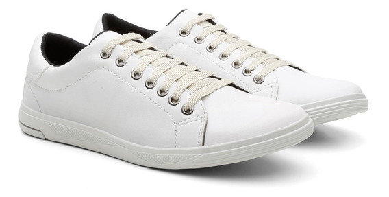 Sapato Masculino Sapatenis Enfermagem Branco Sem Detalhes