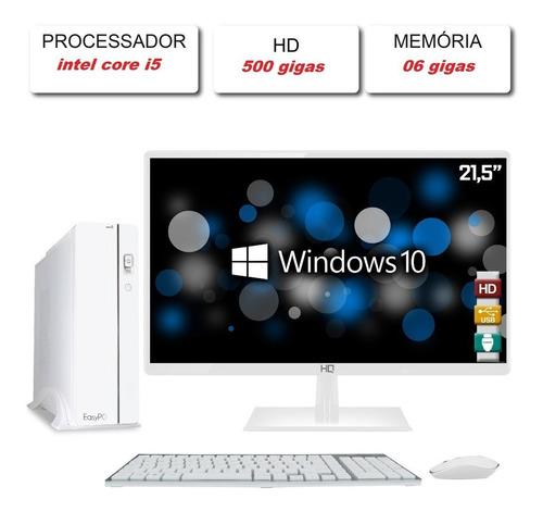 Computador Top Intel Core I5 6 Gigas Memoria  22 Polegadas