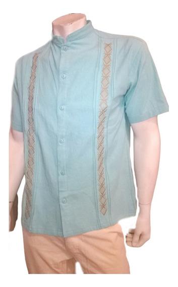 Camisa Guayabera Manta Fina Xxl Xxxl
