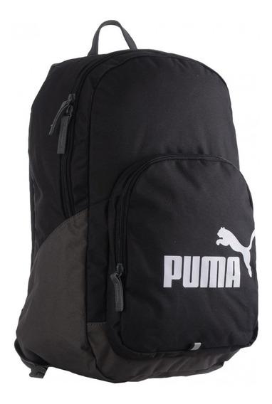 Mochila Puma Phase Backpack Negra Unisex Escolar Moda Msi