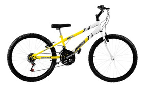 Bicicleta Bike Rebaixada Aro 24 Pro Tork Amarela E Branca