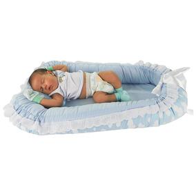 Ninho Para Bebê Dupla Face Nuvem Azul