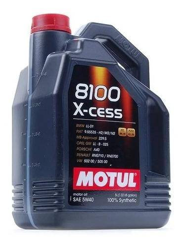 Imagen 1 de 7 de Nuevo Aceite Sintético 100% Motul 5w40 8100 5 Lt + Silicona