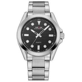 Relógio Masculino Weide Prata / Preto Aço Inox Wh802b-1c