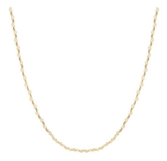 Correntinha Infantil Rommanel 35cm Folheado Ouro 531493