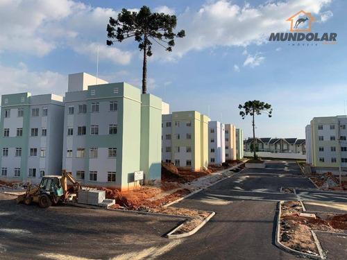Apartamento Com 2 Dormitórios À Venda, 53 M² Por R$ 128.000 - Tindiquera - Araucária/pr - Ap1983