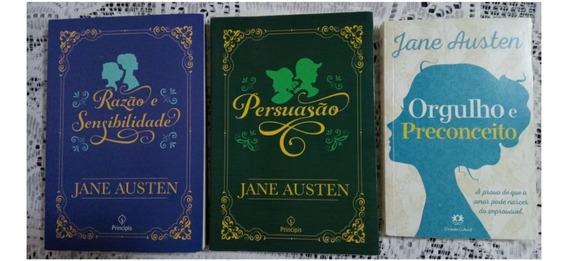 Kit 3 Livros Jane Austen - Razão..., Persuasão E Orgulho...