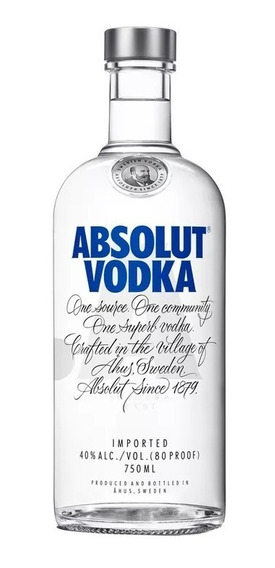 Vodka Absolut 750 Ml.