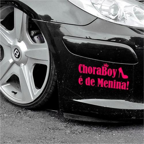 Adesivo Chora Boy E De Menina 2 Unid.