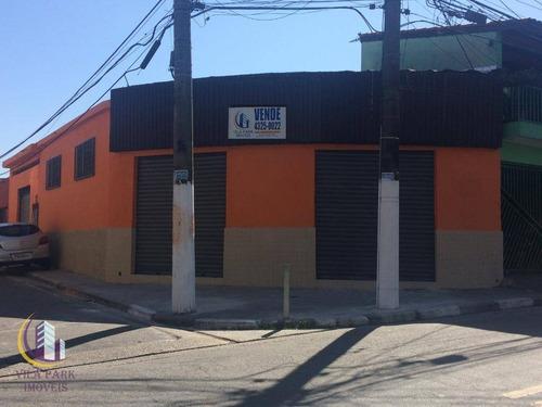 Salão À Venda, 114 M² Por R$ 310.000,00 - Jardim Novo Osasco - Osasco/sp - Sl0019