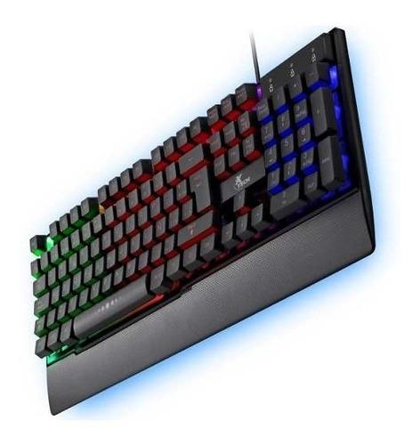 Teclado Gamer Xtech Xtk-510s, Usb, Espaãol, Multimedia, Luz