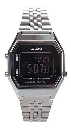 Relógio Casio Vintage Aço Preto/prata