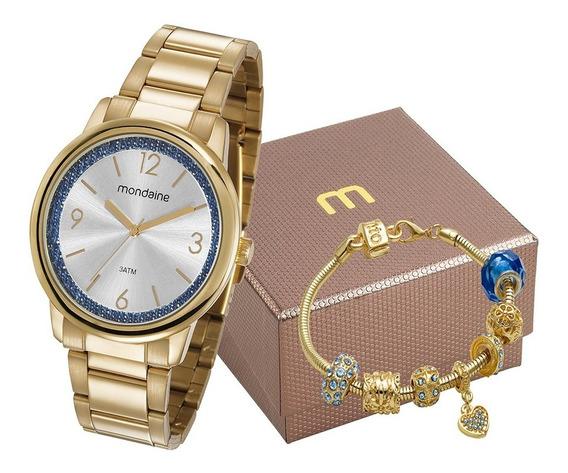 Kit Relógio Mondaine Feminino 53634lpmvde1k2