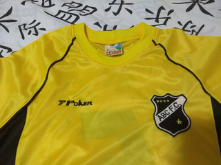 Camisa Abc De Natal, Marca Poker, N°5, Rara, 2002, Amarela!