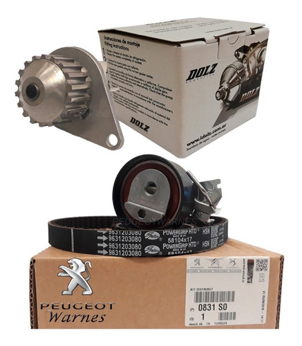 Kit Distribucion Original + Bomba Dolz Citroen C3 1.4 Nafta