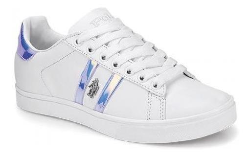 Tenis Para Mujer Polohpc 390-055561 Color Blanco