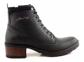 Borcego Bota Cuero Mujer Freeway Zapato Goma - Mcbo24788